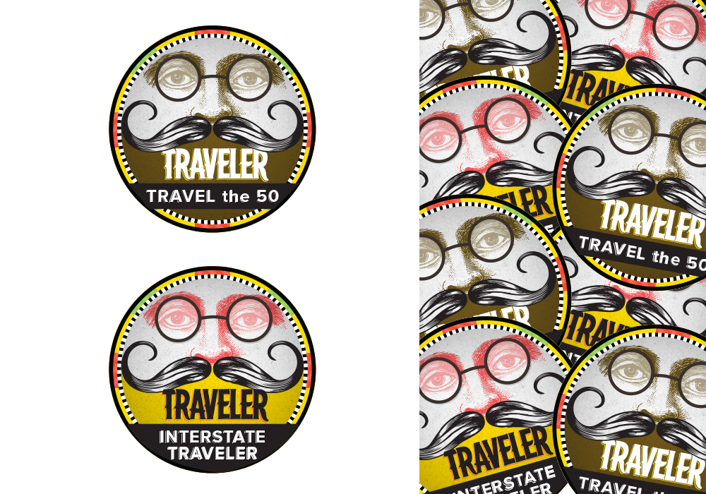 Traveler Beer Badge Design