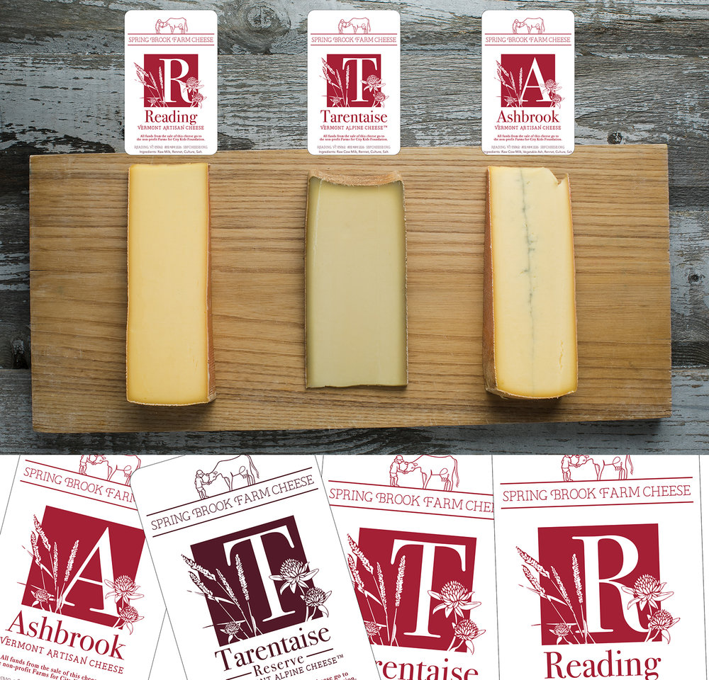 Spring Brook Farm Cheese Label Design