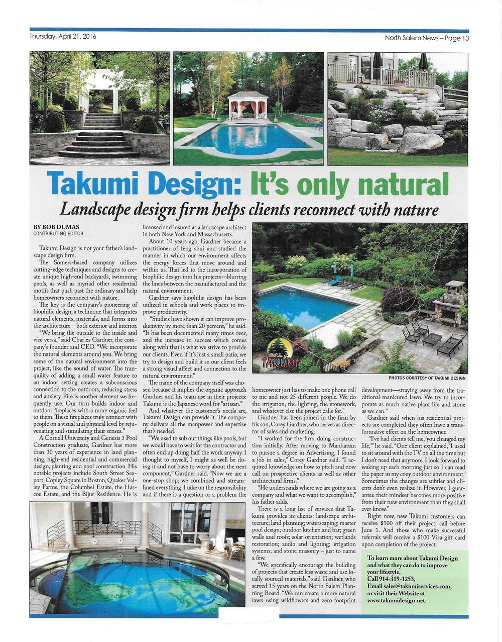 Takumi Design: It's only Natural