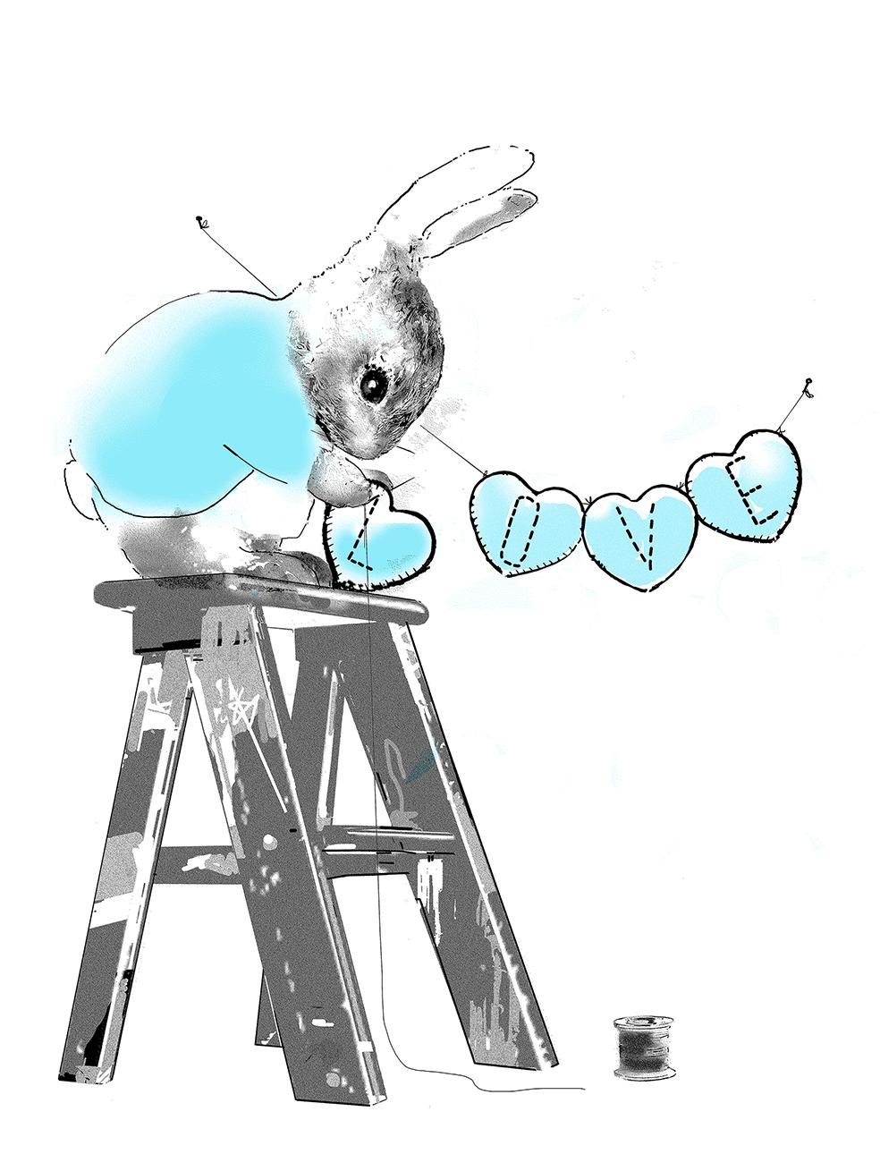 Harry Bunce - Making Love #1 (Blue)