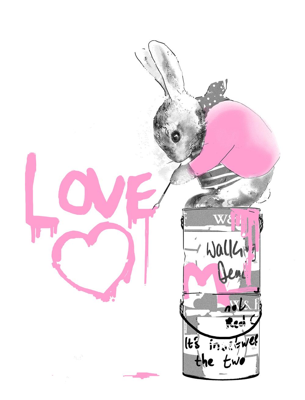 Harry Bunce - Making Love #2 (Pink)