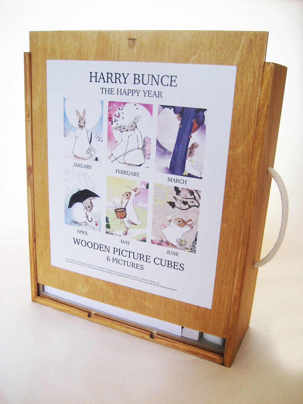 Harry Bunce - wooden picture cubes