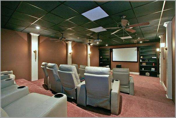 New Custom Home Design - Media and Game Room 1