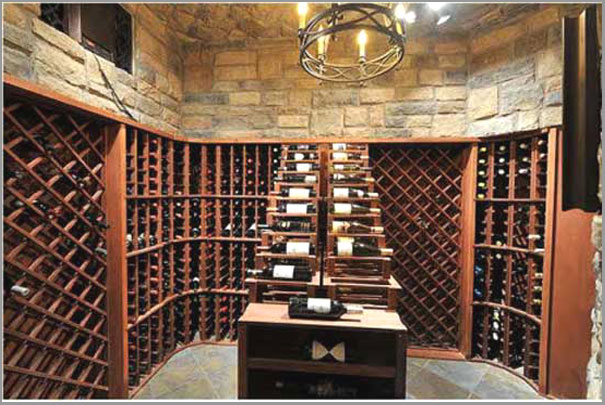 New Custom Home Design - Wine Cellar