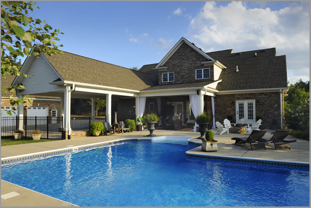 New Custom Home Design - Inground Pools 1