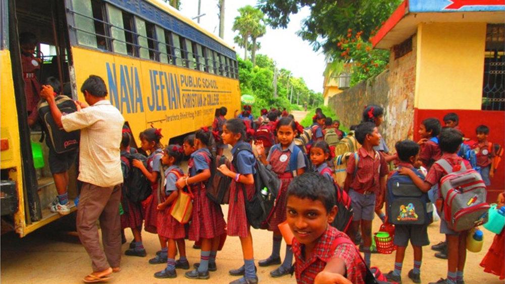 CHILDREN ON THEIR WAY TO THE CFI SCHOOL