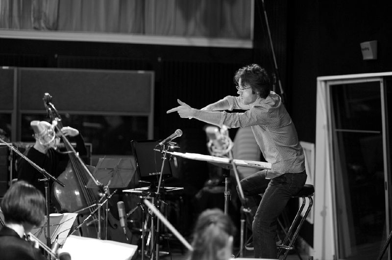 Suresnes, France  |  Ensemble intercontemporain  Studio recording for the movie  Équinoxe  (music by Hèctor Parra)  © Jean Radel