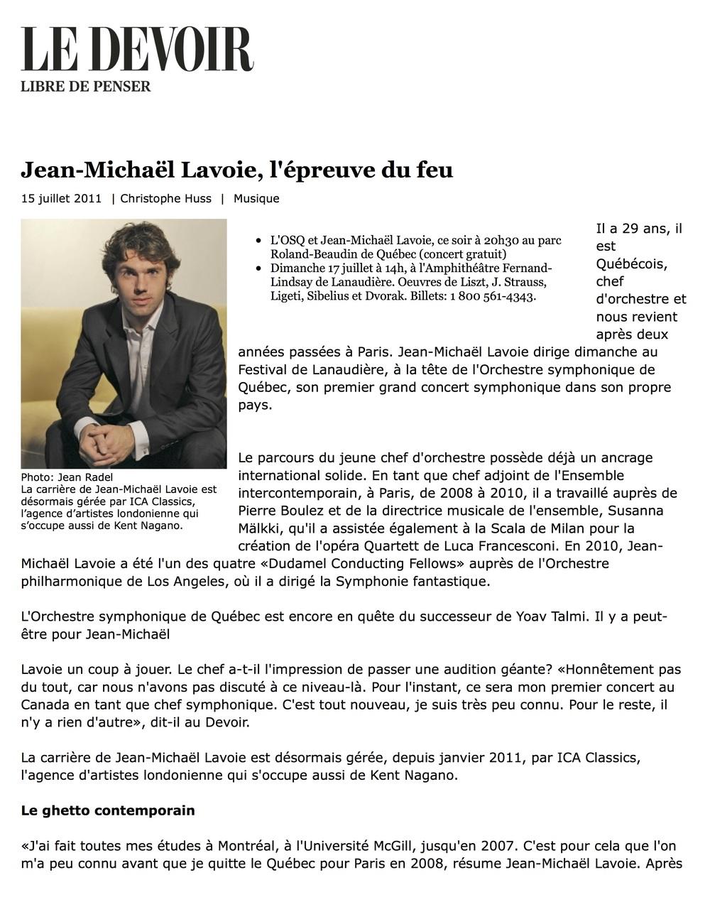 Le Devoir (2011)