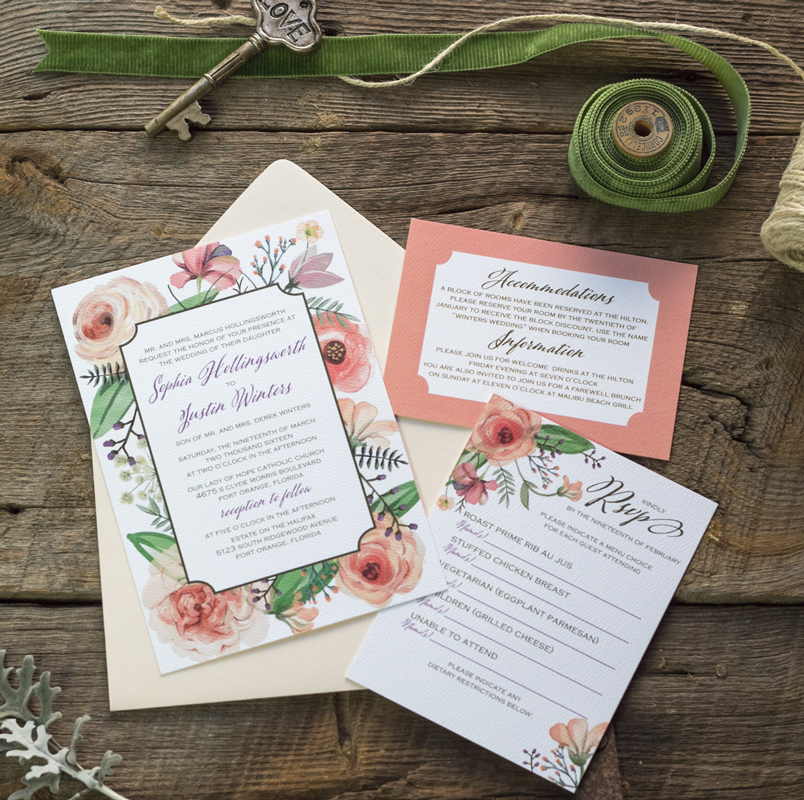 The Sophia Suite - Invitations — Feathered Heart Prints | Western ...