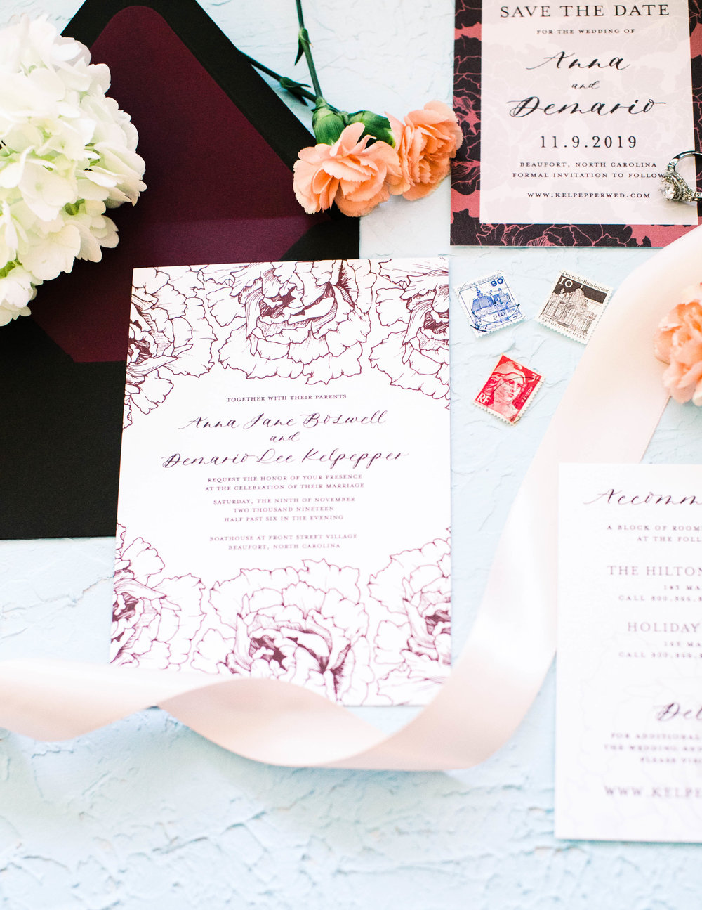 Anna Hand Drawn Wedding Invitation Burgundy Peonies Feathered Heart PrintsAnna 3W2A0353.jpg