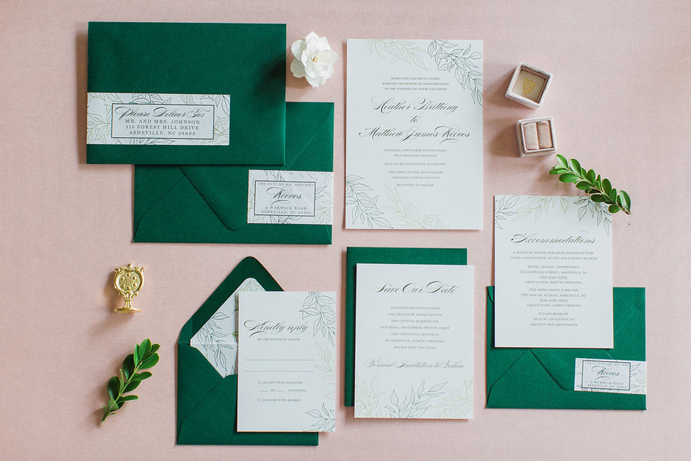 Heather Hand Drawn Wedding Invitation Greenery Feathered Heart PrintsFHP-27.jpg