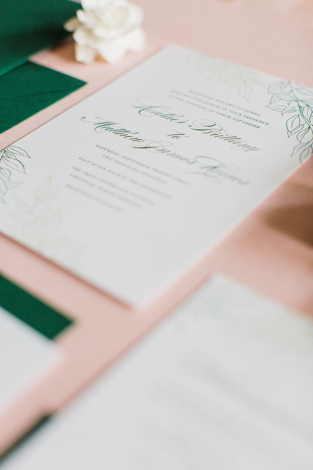 Heather Hand Drawn Wedding Invitation Greenery Feathered Heart PrintsFHP-31.jpg