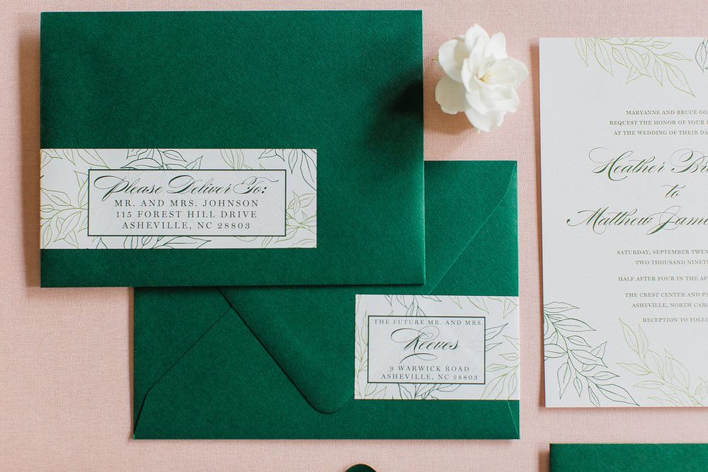 Heather Hand Drawn Wedding Invitation Greenery Feathered Heart PrintsFHP-34.jpg