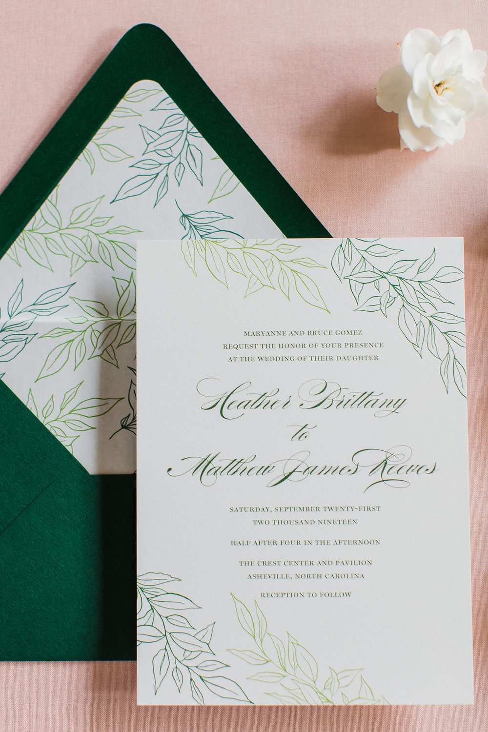 Heather Hand Drawn Wedding Invitation Greenery Feathered Heart PrintsFHP-37.jpg