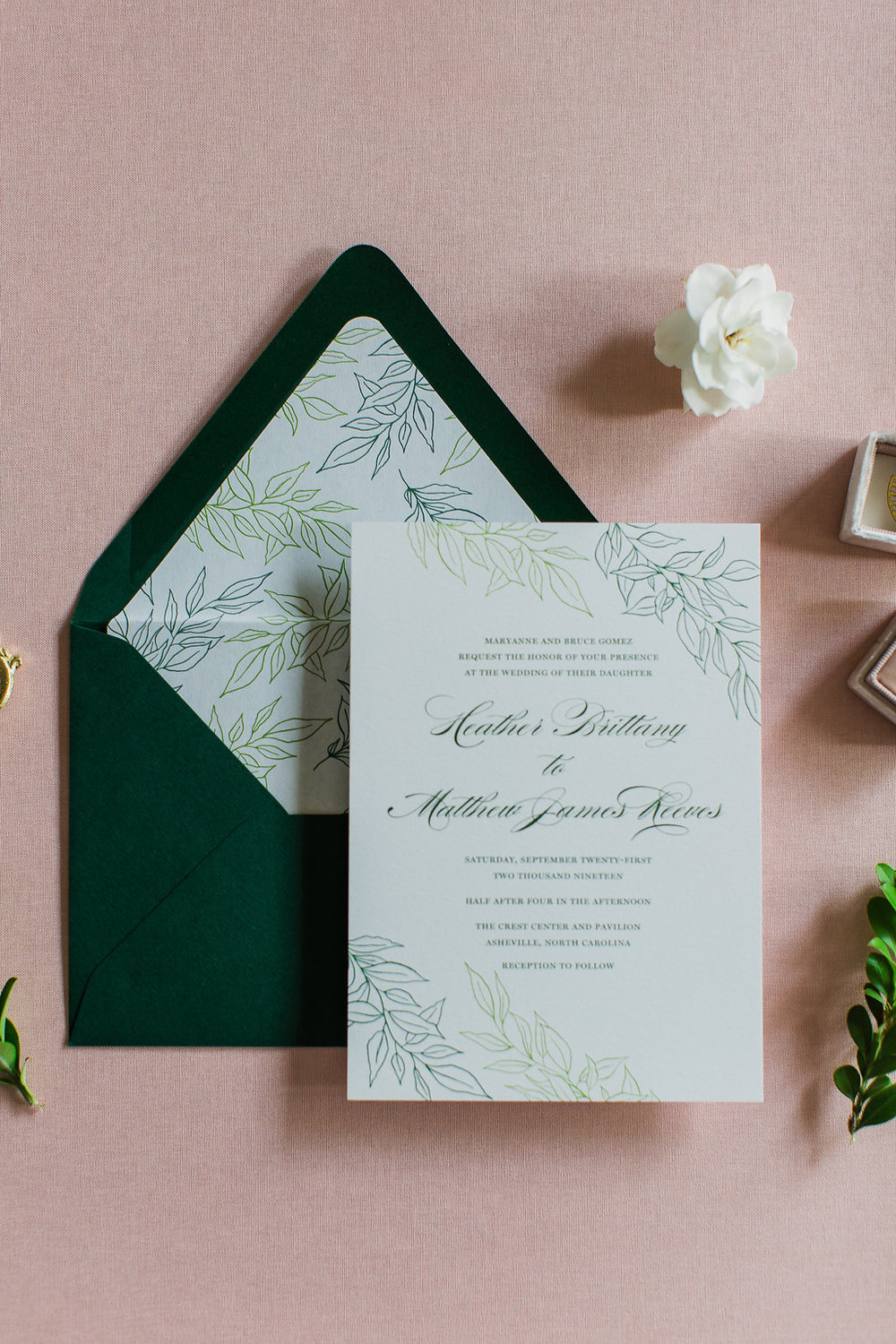 Heather Hand Drawn Wedding Invitation Greenery Feathered Heart PrintsFHP-36.jpg