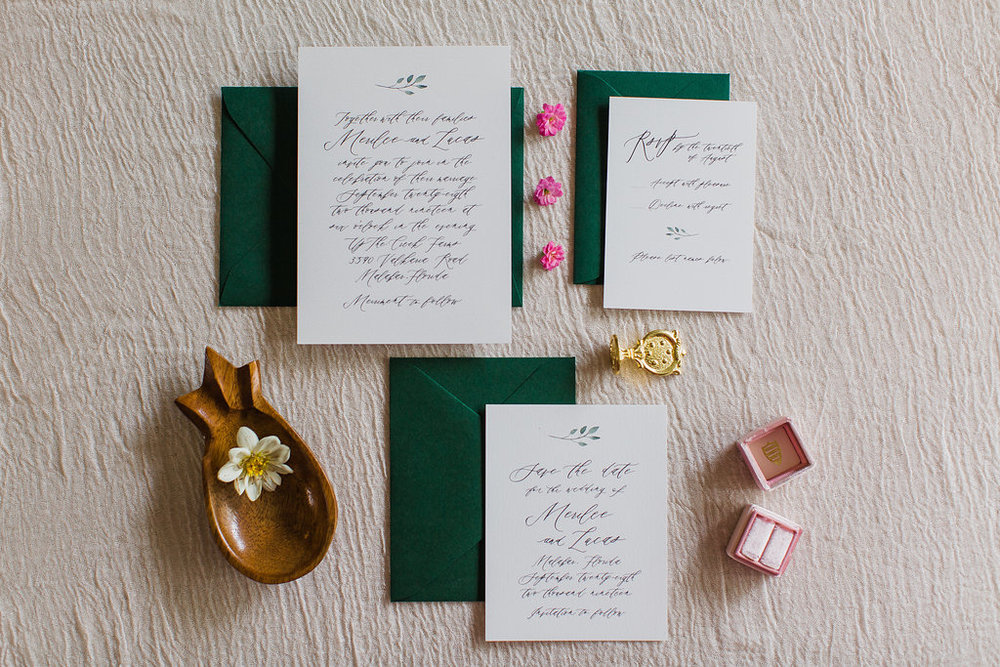 Merilee Hand Painted Calligraphy Wedding Invitation Feathered Heart PrintsFHP-59.jpg
