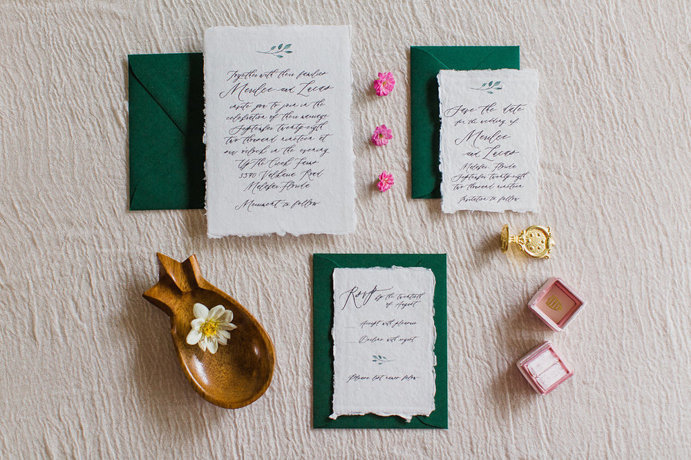 Merilee Hand Painted Calligraphy Wedding Invitation Feathered Heart PrintsFHP-66.jpg