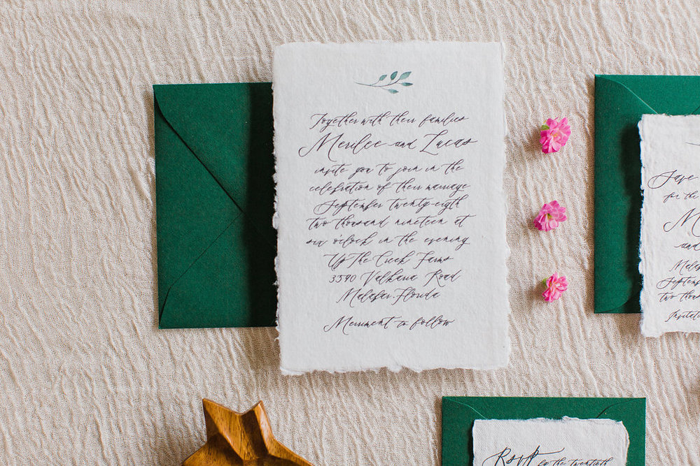 Merilee Hand Painted Calligraphy Wedding Invitation Feathered Heart PrintsFHP-67.jpg