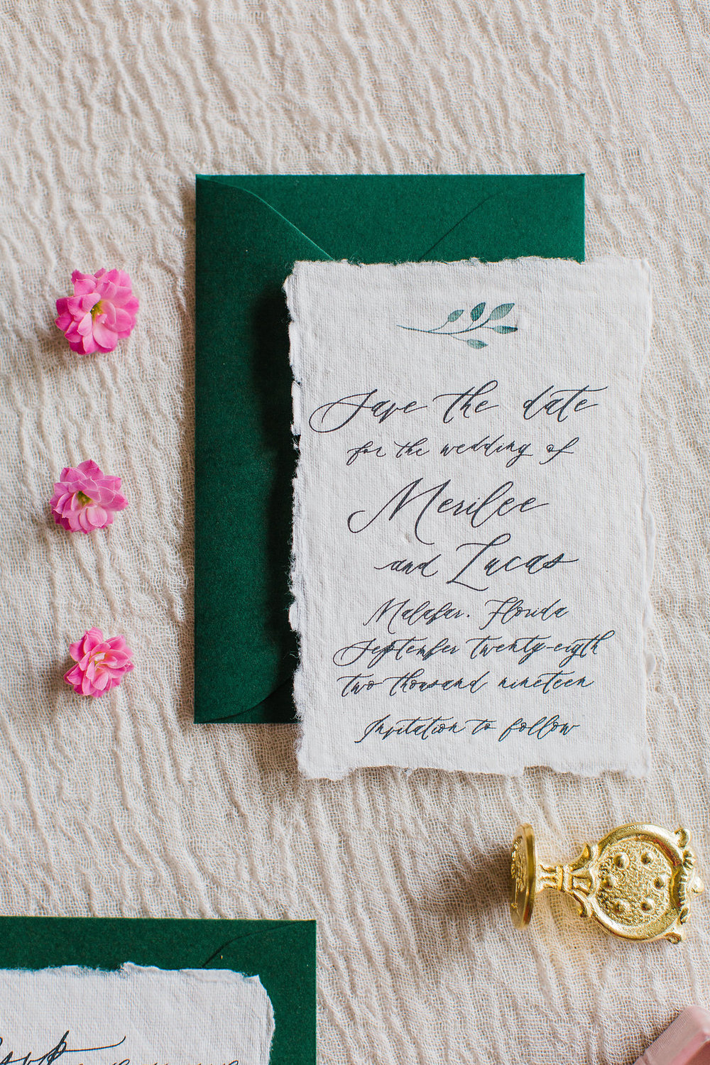 Merilee Hand Painted Calligraphy Wedding Invitation Feathered Heart PrintsFHP-69.jpg