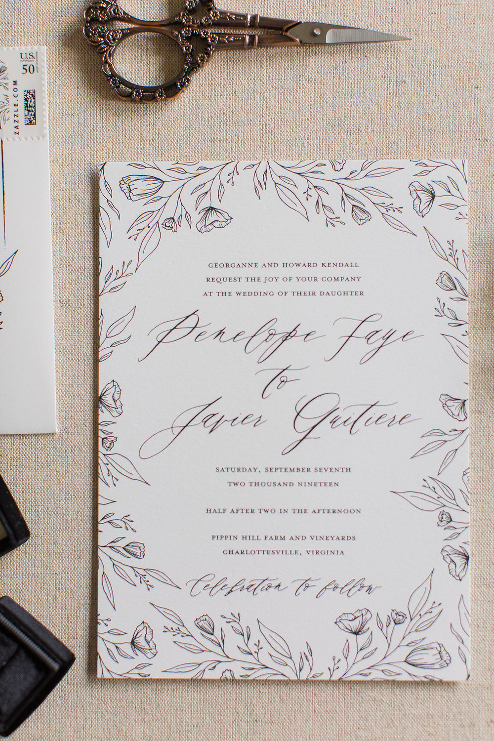 Penelope - Hand Drawn Floral Wedding Invitations -FHP-50.jpg