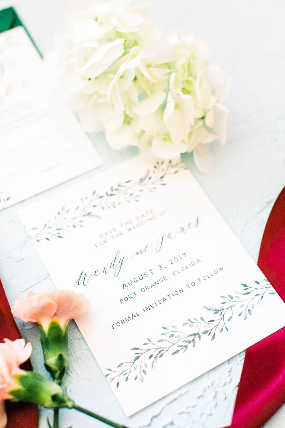 Hand Painted Watercolor Greenery Wedding Invitations -Wendy 3W2A0349.jpg