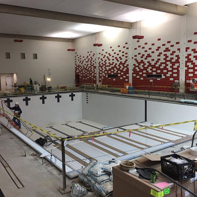 Progress update at the Pritchard Gym Pool project at Stony Brook University #stonybrook #fortunatosonscontracting