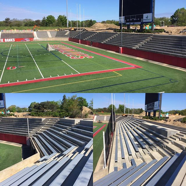 Seawolves' 2,000 seat Stadium expansion will be ready for Graduation and Football. Team Fortunato making it happen. #fortunatosonscontracting #seawolves #stonybrookuniversity