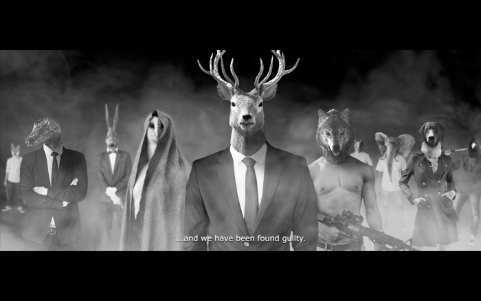 Manhunt, short film, Northern Lights, human taxidermy, Fashion Film