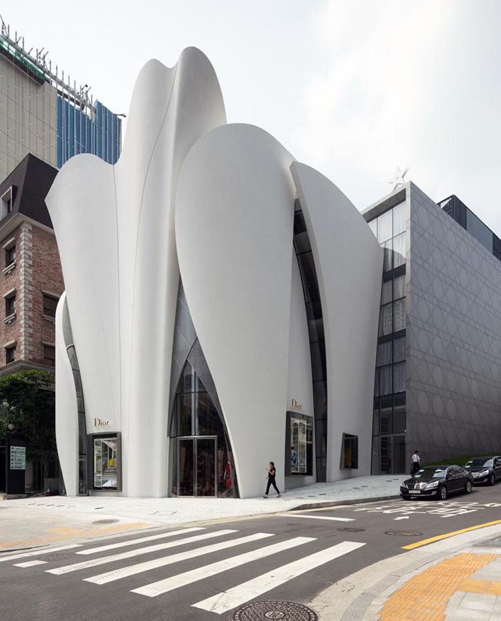 Dior Flagship, Seoul, how it's made, architecture