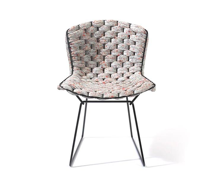 Clément Brazille, Bertoia Chair, custom vintage chair