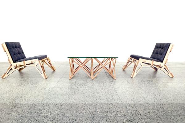 Gustav Düsing, chair, space frame, DIY chair, wooden chair