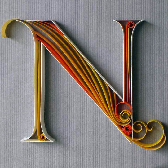 Paper Typography, Sabeena Karnik