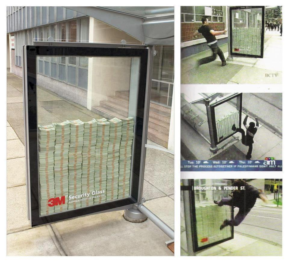 3m security glass, security camera, campaign