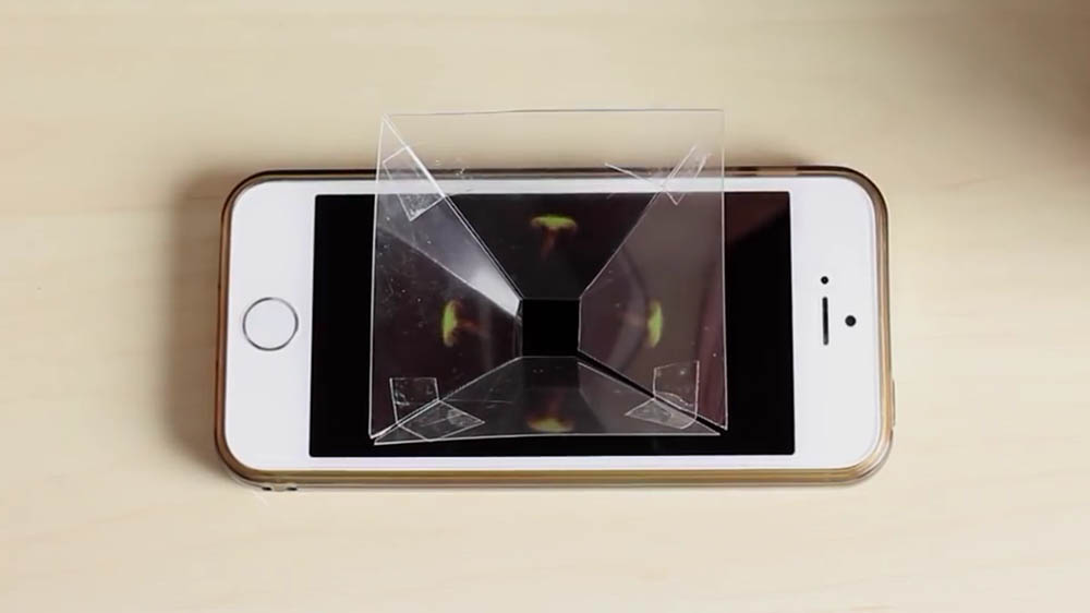 DIY Hologram, iphone, smartphone