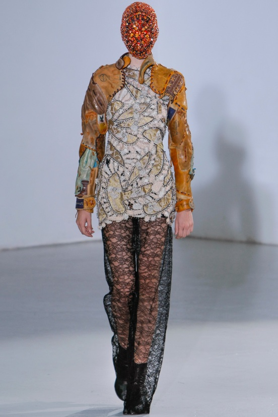 Maison Martin Margiela, Couture, Fall 2012, Diamond Mask