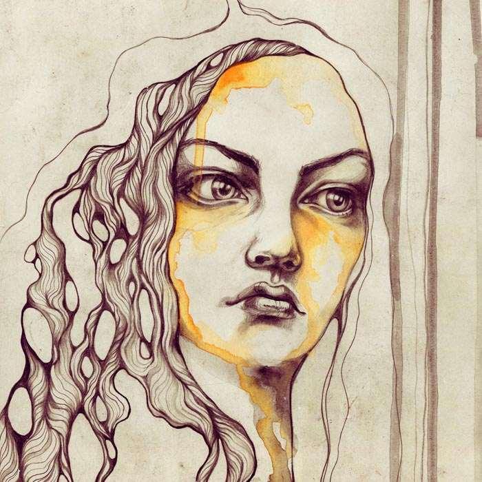 Sara Blake, Fashion, Beauty, Illustration, Watercolor, Screen Print