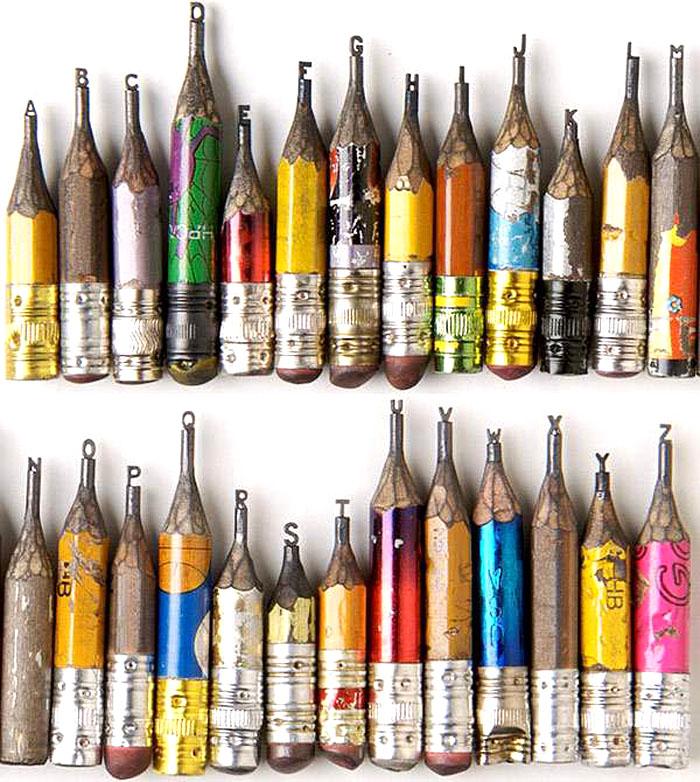 Dalton Ghetti, Typography Sculpture, Graphite Sculpture, Pencil, Lead Sculpture