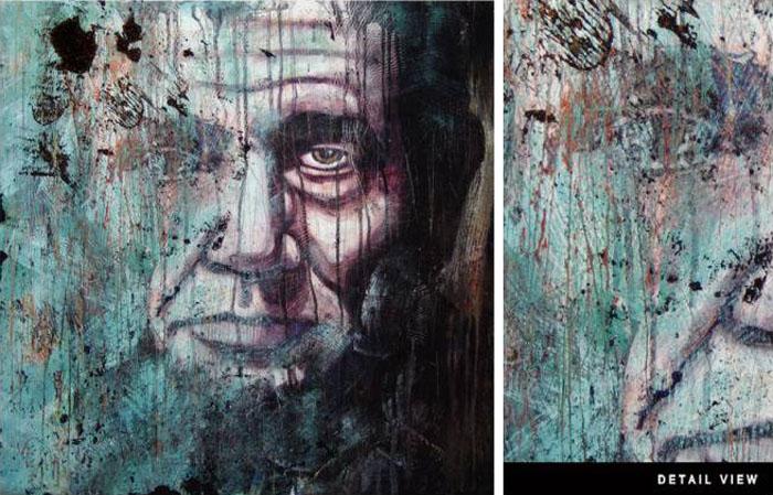 Dustin Parker, Digital illustration, Abraham Lincoln, Graffiti