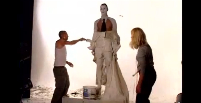 Alexander McQueen, Nick Knight, Bridegroom, Human Sculpture, Performance Art