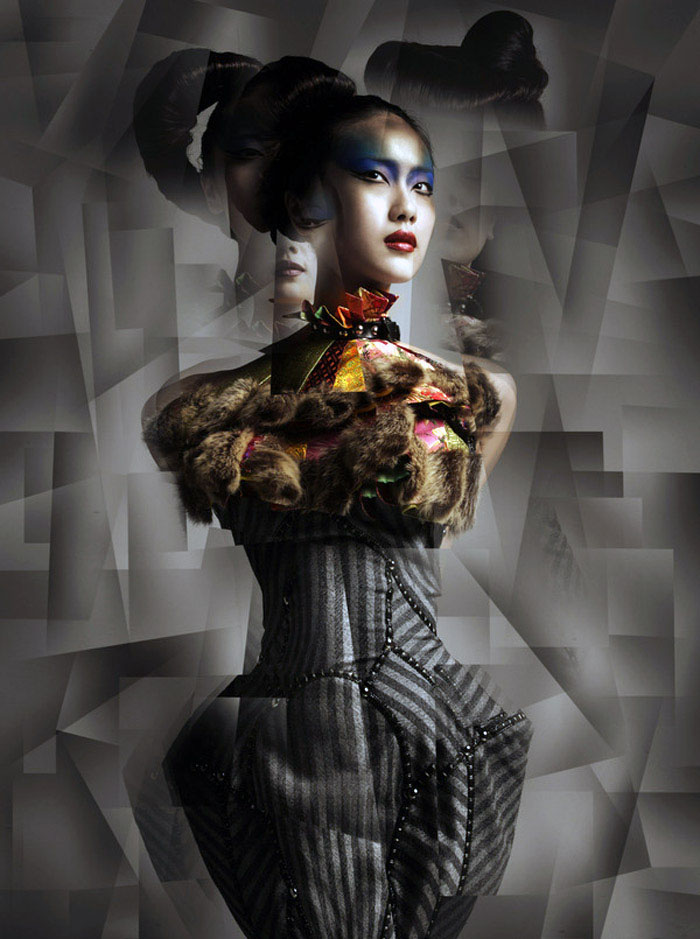 Metamorphosis, Fashion Photography, Fractured, Lens