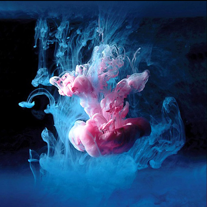 Mark Mawson, paint in water, underwater photography, photographing ink