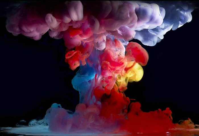 Mark Mawson, paint in water, underwater photography, photographing ink, paint explosion
