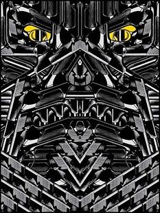 Rob Jones, guns, graphic design, posters, glow in the dark, darth vador,