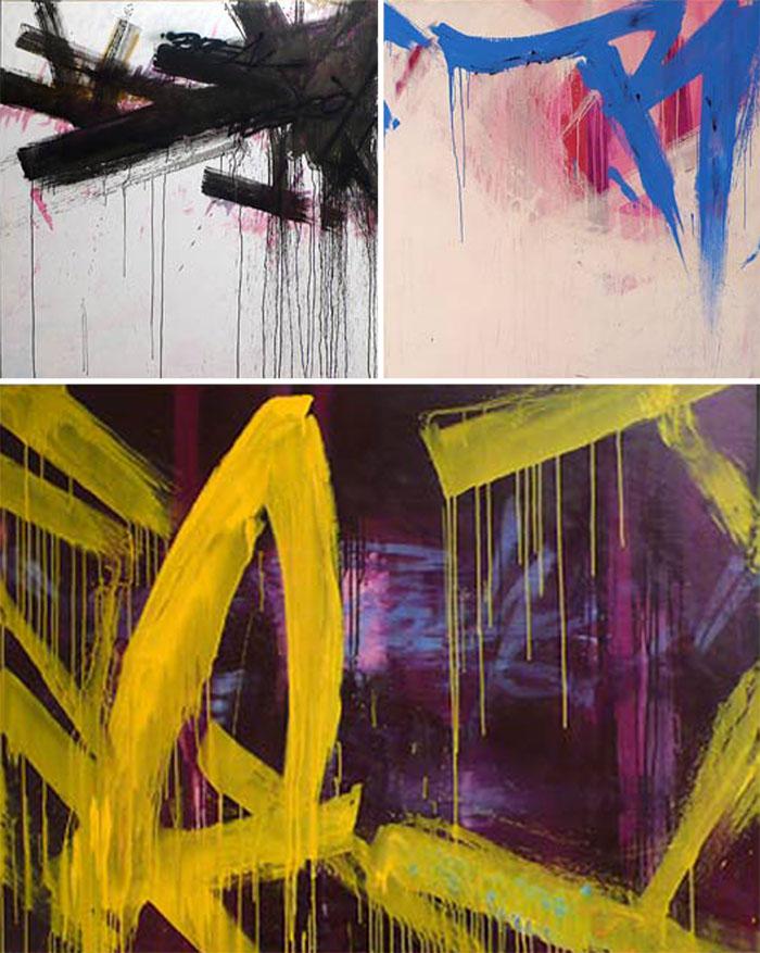 Remi Rough, painting haikus, abstract, art