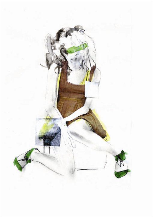 Erin Petson, mixed media, fashion illustration, illustrator