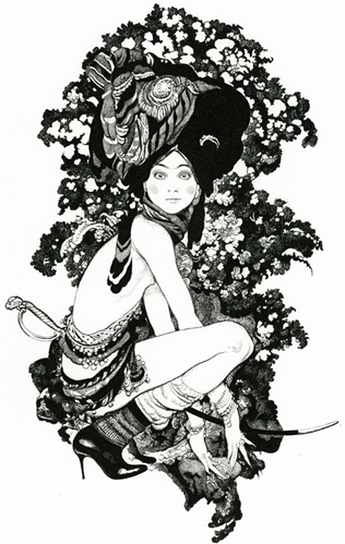 Vania Zouravliov, illustration, fashion illustration, hat
