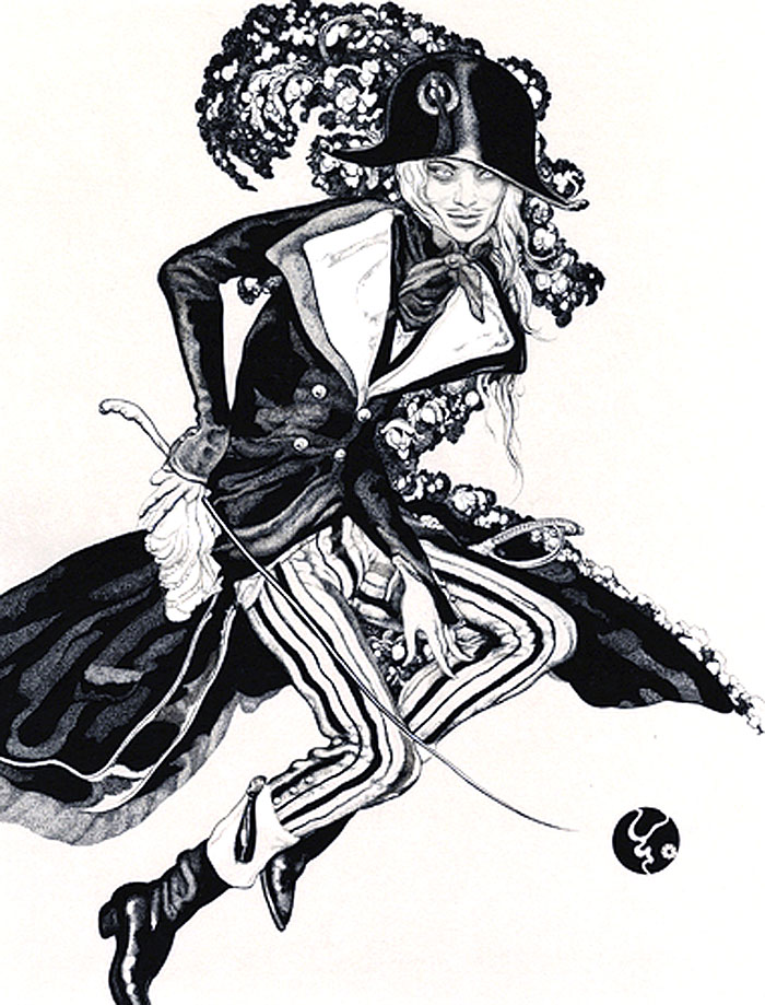 Vania Zouravliov, illustration, fashion illustration, galliano
