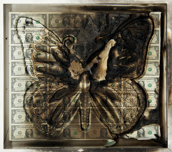 Scott Campbell, money art, lazer cut, paper art