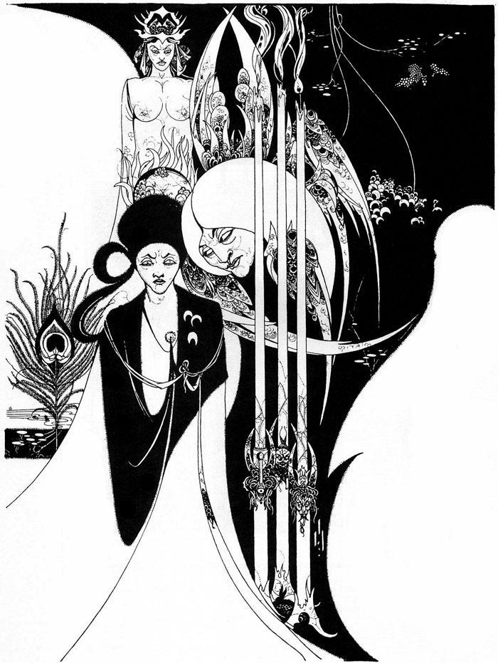 Aubrey Beardsly, Illustration, fashion illustration, vintage