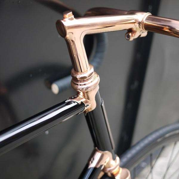 Detroit Bicycle Co, Custom bike, black bike,  copper bike, vintage bike